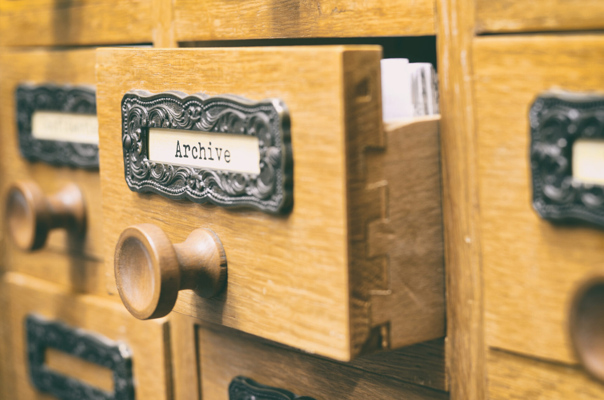 archive card catelog shutterstock_737447347