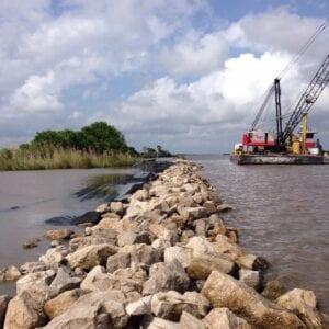 ME-4 shoreline protection construction