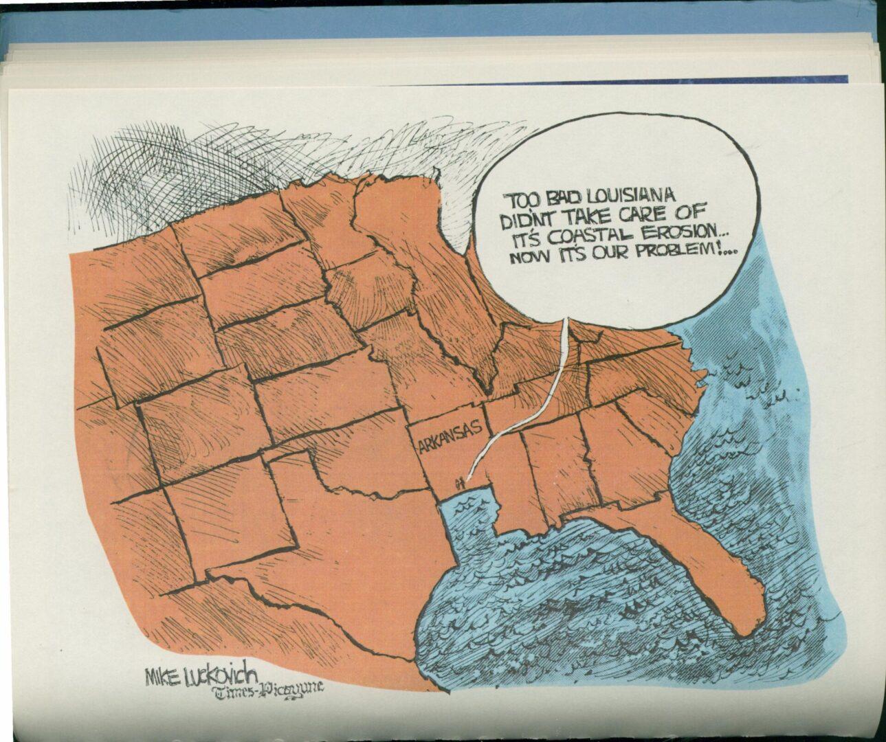 Times Pic cartoon_LL&E Land Loss in C.LA. 1989